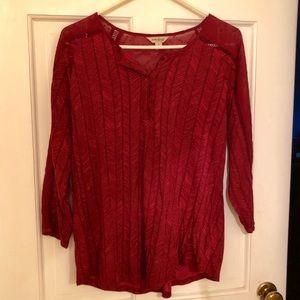 Red Boho Shirt